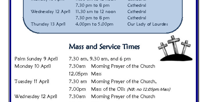 thumbnail of Holy Week Mass, Reconciliation & Service Times