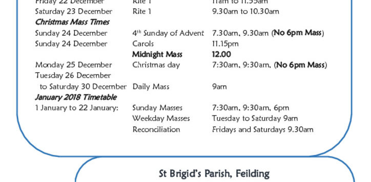 thumbnail of Christmas Timetable flier 2017